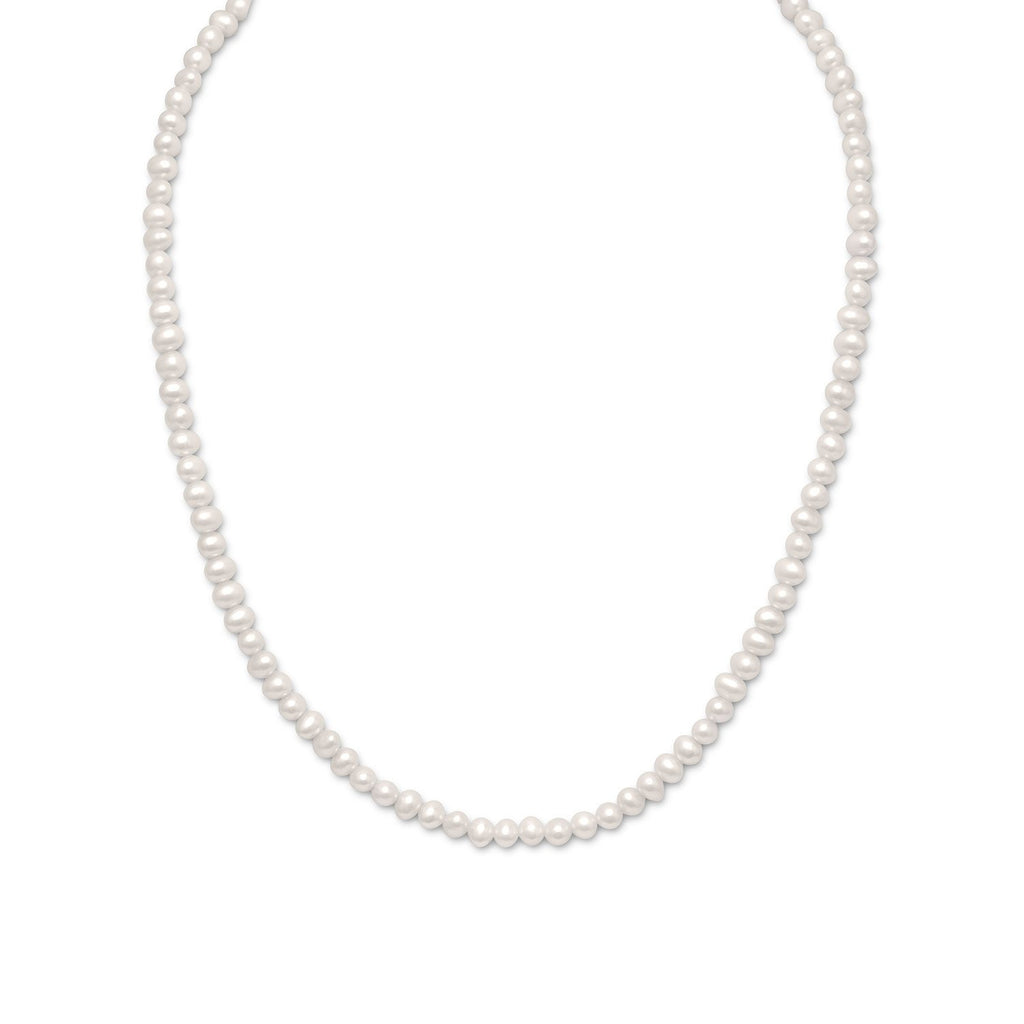 "15""+2"" Extension White Cultured Freshwater Pearl Necklace"