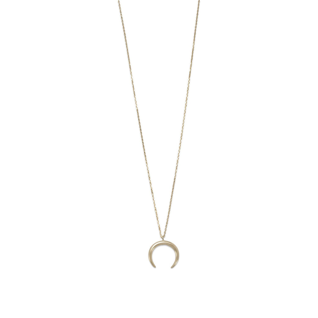 14 Karat Gold Plated Crescent Necklace