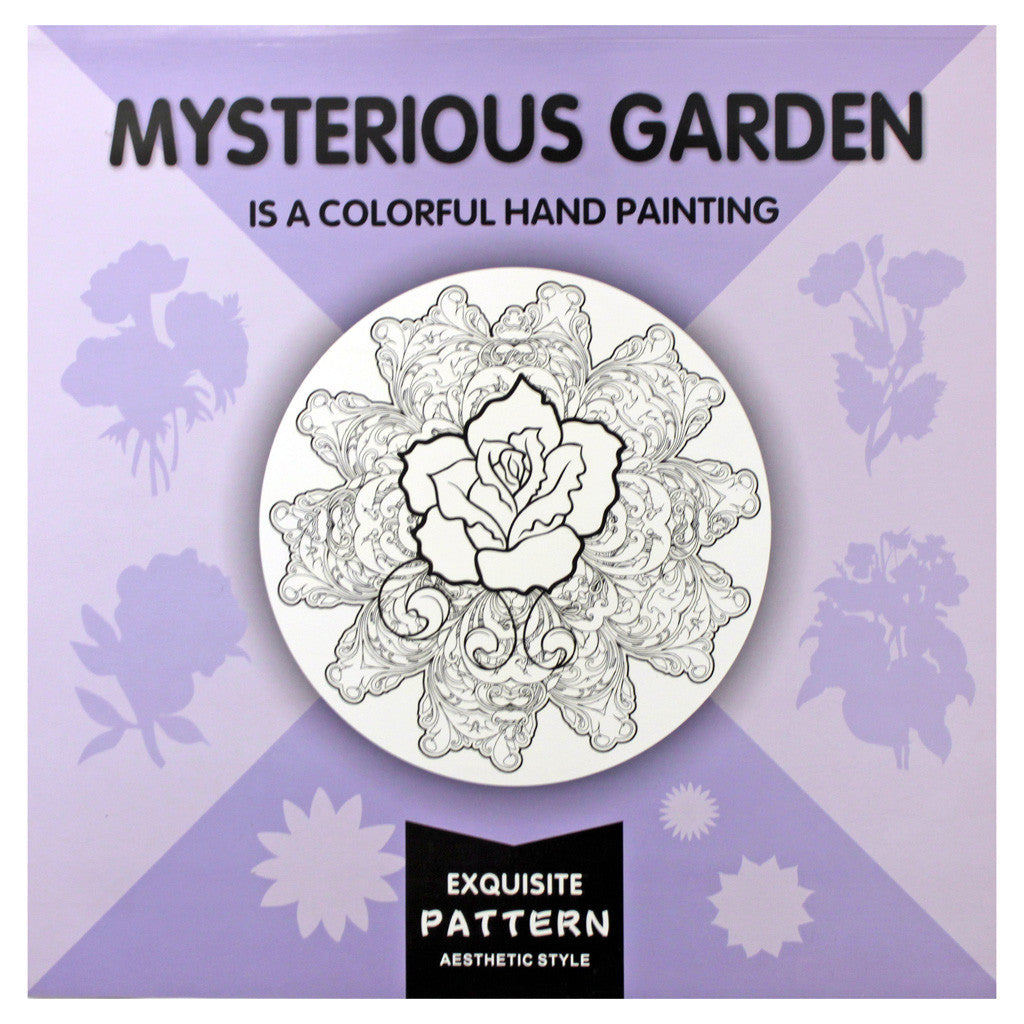 Mysterious Garden Adults Colouring Book 24pg