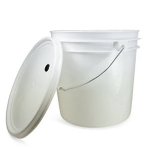 Primary fermenter with lid - 2 gallon