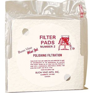 Buon Vino Mini Jet Filter Pads - Polishing (#2) 10 pack