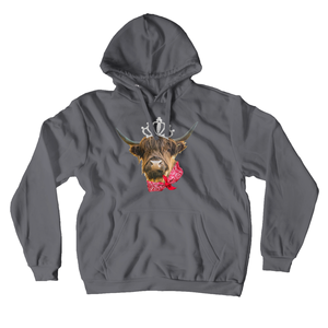 Fluffy Layers Highland Cow Hoodie ( unconventional acres special collection) - Fluffy Layers