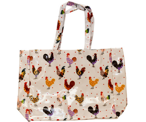 Fluffy Layers PVC Tote Bags (chickens & leopard)-Fluffy Layers