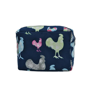 Fluffy Layers Rooster Garden Top Zip Cosmetic Bag - Fluffy Layers