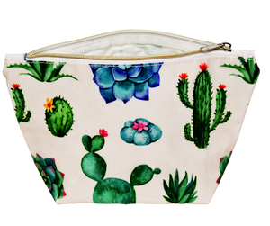 Fluffy Layers PVC Cosmetic Bag ( cactus & succelent) - Fluffy Layers