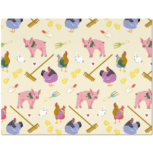 Fluffy Layers Gardening Pigs & Hens Placemats-Fluffy Layers
