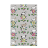Fluffy Layers Floral Goats Dish Towels-Fluffy Layers