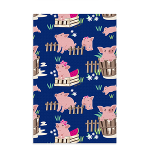 Fluffy Layers Precious Piglets Dish Towels-Fluffy Layers