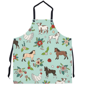 Fluffy Layers Farm Party Kitchen Apron ( available in adult & youth sizes) - Fluffy Layers