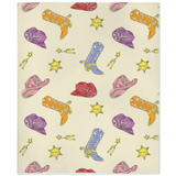 Fluffy Layers Pastel Cowgirl Super Plush Minky Blankets-Fluffy Layers