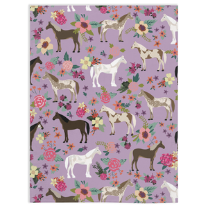 Fluffy Layers Horses Galore Super Plush Minky Blankets - Fluffy Layers