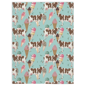 Fluffy Layers Mint Chocolate Cow Super Plush Minky Blankets - Fluffy Layers