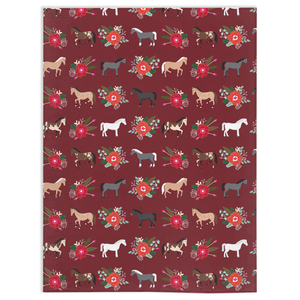 Fluffy Layers Horses and Roses Super Plush Minky Blankets - Fluffy Layers