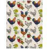 Fluffy Layers Rooster and Roses Super Plush Minky Blanket - Fluffy Layers