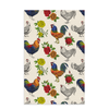 Fluffy Layers Rooster & Roses Dish Towel - Fluffy Layers