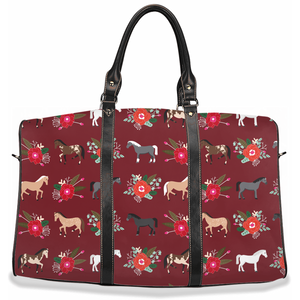 Fluffy Layers Horses and Roses Travel Bags - Fluffy Layers