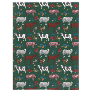 Fluffy Layers Colorful Farm (forest) Super Plush Minky Blanket - Fluffy Layers