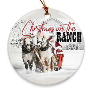 Fluffy Layers Christmas on the Ranch Porcelain Ornaments - Fluffy Layers
