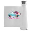 Fluffy Layers Vintage Farm Girl ( blue truck) Double Wall Vacuum Insulated Stainless Steel Water Bottle-Fluffy Layers
