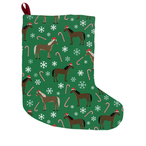 Fluffy Layers Horses & Candy Canes Christmas Stocking - Fluffy Layers