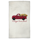 Fluffy Layers Vintage Farm Girl Dish Towel - Fluffy Layers