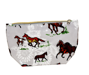 Fluffy Layers PVC Cosmetic Bag (horses) - Fluffy Layers