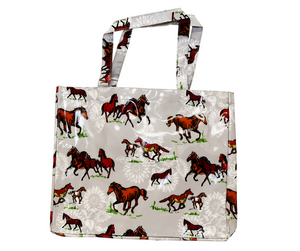 Fluffy Layers PVC Tote Bags (horses)-Fluffy Layers