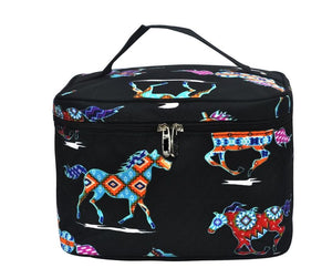 Fluffy Layers Aztec Horses Cosmetic Case - Fluffy Layers