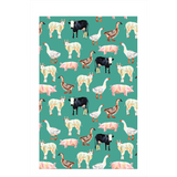 Fluffy Layers Teal Farm Dish Towel-Fluffy Layers