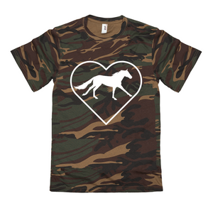 Fluffy Layers Camo ( horse love) T-Shirt - Fluffy Layers