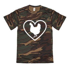 Fluffy Layers Camo ( chicken love) T-Shirt - Fluffy Layers