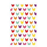 Fluffy Layers Rainbow Chickens ( white) Dish Towel - Fluffy Layers