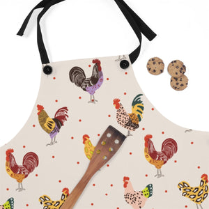 Fluffy Layers Chickens and Leopard Kitchen Apron ( available in adult & youth sizes)-Fluffy Layers