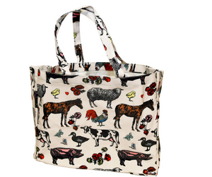 Fluffy Layers PVC Tote Bags (colorful farm)-Fluffy Layers