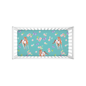 Fluffy Layers Ponies & Butterflies Crib Sheet-Fluffy Layers