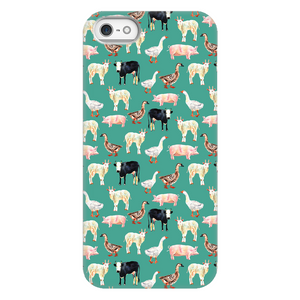 Fluffy Layers Teal Farm Phone Case - Fluffy Layers