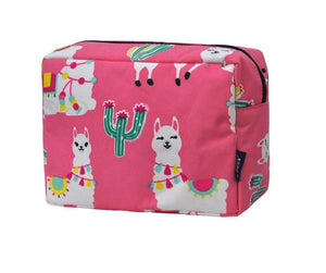 Fluffy Layers Pink Llamas Cosmetic Bag - Fluffy Layers