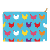 Fluffy Layers Rainbow Hens ( blue) Accessory Pouch / Cosmetic Bag-Fluffy Layers