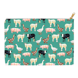 Fluffy Layers Teal Farm Accessory Pouch / Cosmetic Bag-Fluffy Layers