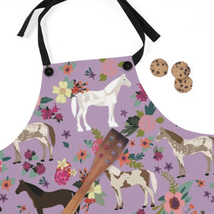 Fluffy Layers Horses Galore Kitchen Apron ( available in adult & youth sizes) - Fluffy Layers