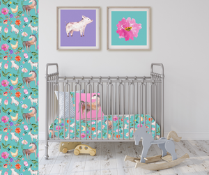 Fluffy Layers Springtime Dreams Crib Sheets-Fluffy Layers