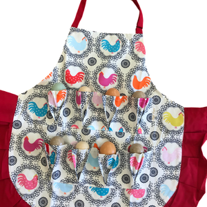 Fluffy Layers Kids Egg Collecting Aprons Blue- Large - Fluffy Layers
