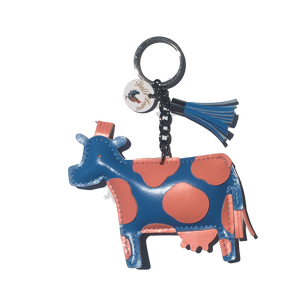 Fluffy Layers Farm Frenzy Keychains- COW - Fluffy Layers
