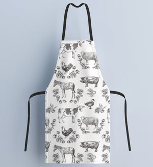 Fluffy Layers Classic Farm Beauty Kitchen Apron ( available in adult & youth sizes) - Fluffy Layers