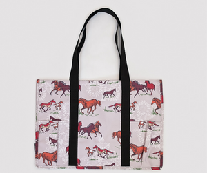 Fluffy Layers Horses Utility Tote Bag-Fluffy Layers