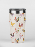 Fluffy Layers Chickens & Leopard Double Wall Insulated Stainless Steel Travel Mug, Tumbler, Coffee Mug-Fluffy Layers