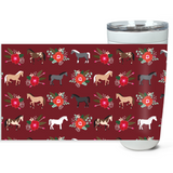Fluffy Layers Horses and Roses Double Wall Insulated Stainless Steel Travel Mug, Tumbler, Coffee Mug-Fluffy Layers