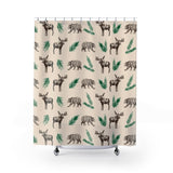 Fluffy Layers Moose and Bear Shower Curtain-Home Decor-Fluffy Layers