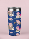 Fluffy Layers Precious Piglets Double Wall Insulated Stainless Steel Travel Mug, Tumbler, Coffee Mug-Fluffy Layers