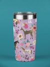Fluffy Layers Purple Ponies Double Wall Insulated Stainless Steel Travel Mug, Tumbler, Coffee Mug-Fluffy Layers